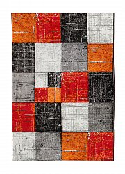 Tapis 133 x 190 cm (wilton) - London Square (rouge/orange)