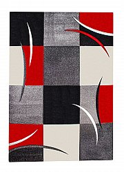 Tapis 133 x 190 cm (wilton) - London Patch (rouge)