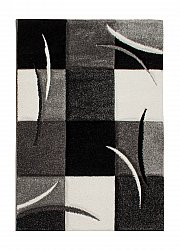 Tapis 133 x 190 cm (wilton) - London Patch (noir)