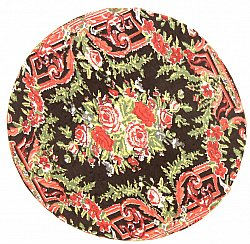 Tapis chiffons - Rose (rond)