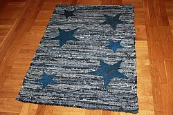 Tapis chiffons Large - Texas (denim / jeans) 160 x 230 cm