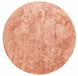 Tapis rond - Aranga Super Soft Fur (rose)