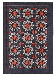 Tapis Wilton - Florina (gris/bleu/orange)