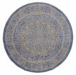 Tapis rond - Vinadio (marron/or)