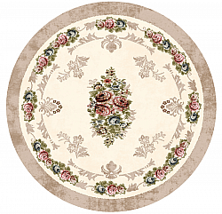 Tapis rond - Delpha (beige/multi)