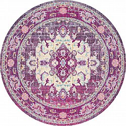 Tapis rond - Siliana (rose)
