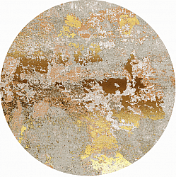 Tapis rond - Elena (beige/or)