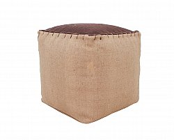 Pouf - Jute top (marron)