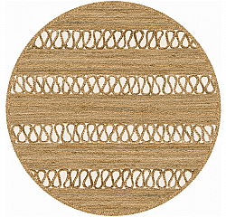 Tapis rond - Levie (beige)