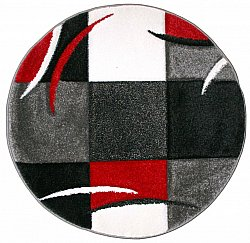 Tapis rond - London Patch (rouge)