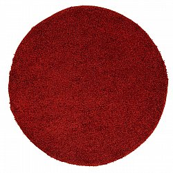 Tapis rond - Trim (rouge)