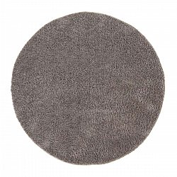 Tapis rond - Soft Shine (marron)