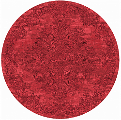 Tapis rond - Valenza (rouge)