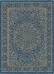 Tapis Wilton - Vinadio (bleu/or)