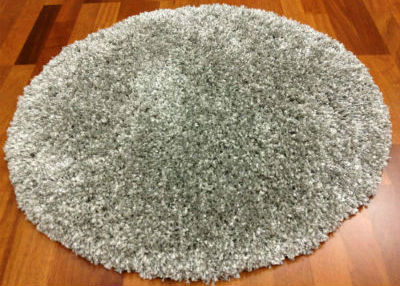 Tapis rond 160 cm - Shaggy Deluxe (silver)