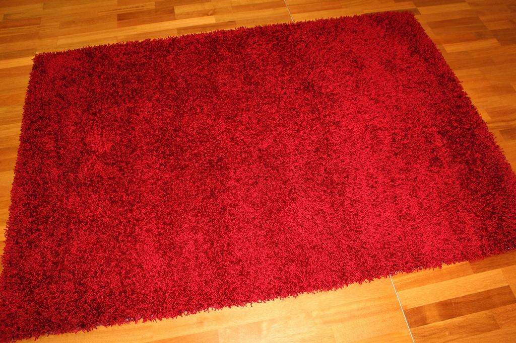 Tapis shaggy - Fancy (rouge)